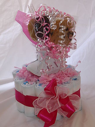 Baby Shoe Centerpiece
