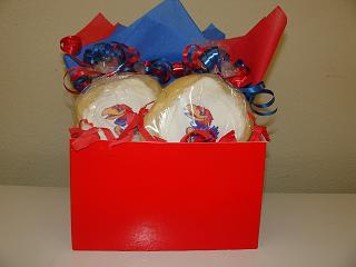 KU Logo Cookies in Box