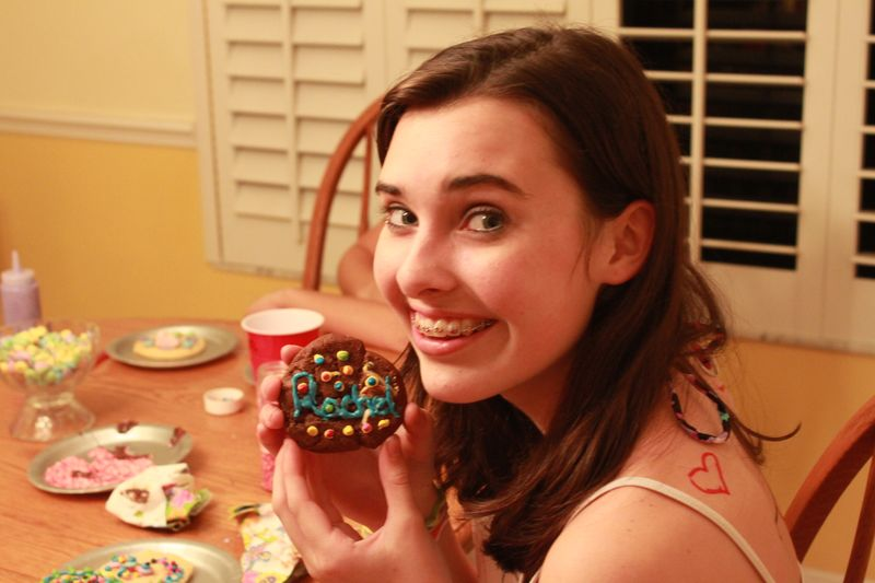 Rachel with Decorated Cookie