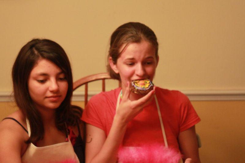 Jessie eating cookie
