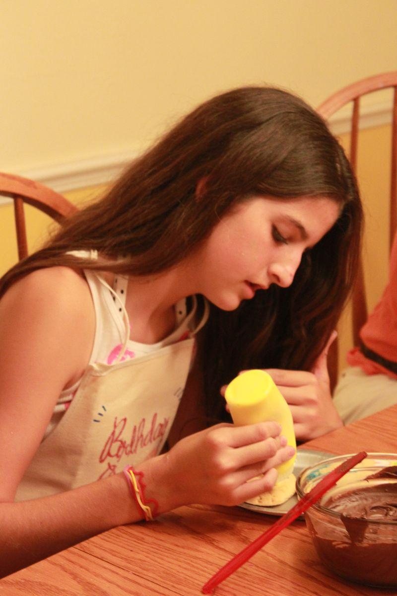 Sarah Decorating Cookie